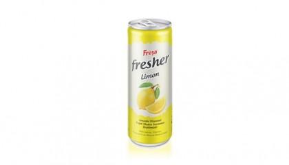 Fresher 250 ml Kutu Limonlu Zengin Vitaminli Doğal Maden Suyu