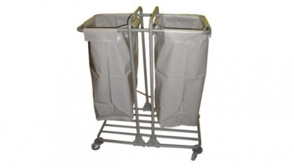 Çöp ve Çamaşır Topl. 2 Bölmeli Brandalı Boyalı