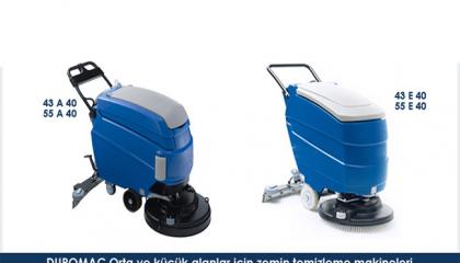 Duromac Orta ve Küçük Alanlar için Zemin Temizleme Makineleri